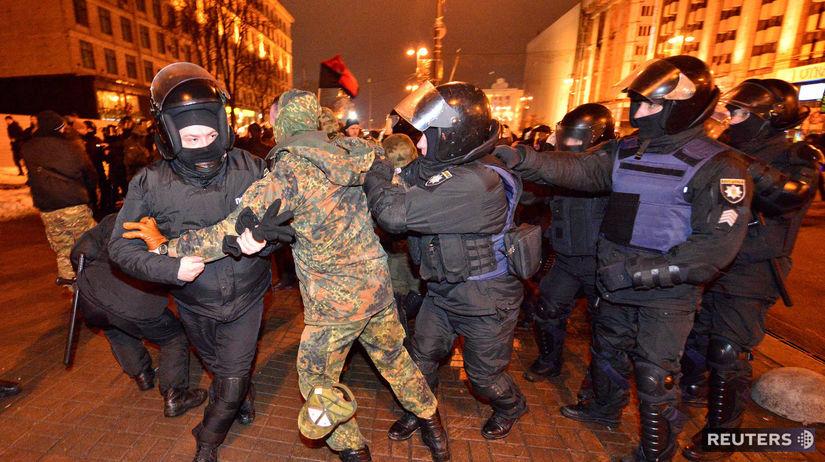 ukrajina, protest, kyjev,