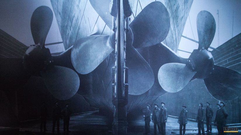 výstava Titanic, lodné skrutky