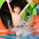 kúpalisko, kúpanie, tobogan, bazén, akvapark, aquapark, dieťa, radosť, leto,