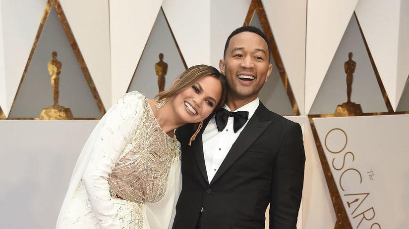 Chrissy Teigen a jej manžel John Legend,