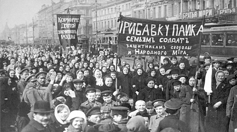 Februárová revolúcia, ženy, petrohrad, rusko