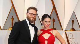 Herec Seth Rogen a jeho manželka Lauren Miller.