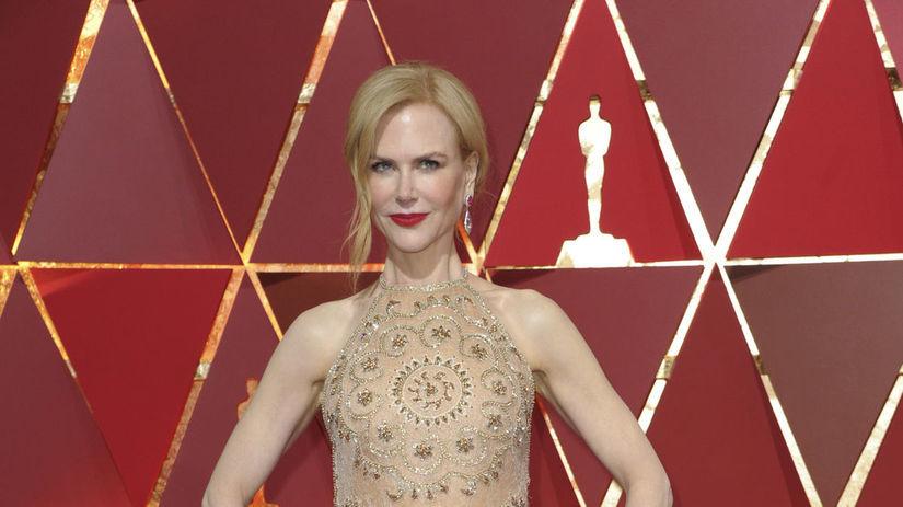 Herečka Nicole Kidman v róbe Armani Privé.