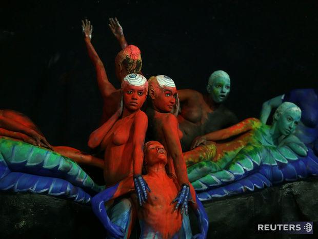 Karneval s Riu. Tanečníci so školy samby Paraiso do Tuiuti.