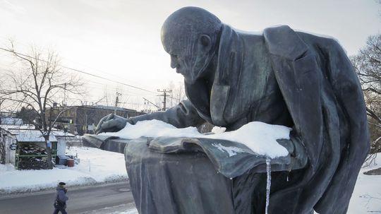 Lenin, Rusko, socha