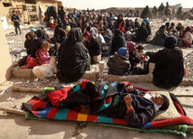 Mósul, Mosul, Irak, Islamský štát, IS, bitka, vojna, utečenci, žena