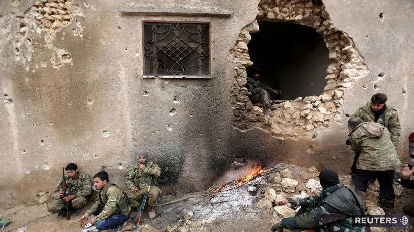 Al Báb, Sýria, bojovníci, boj, vojna, dom,...