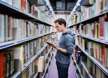 knižnica, študent, žiak