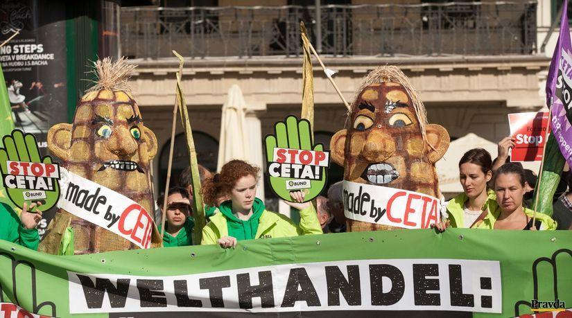 ceta, protesty, bratislava