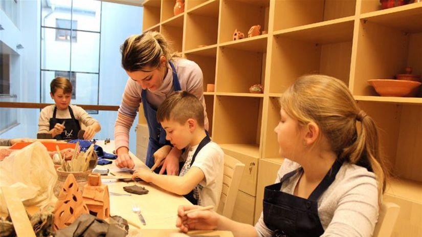 deti, múzeum, tvorenie