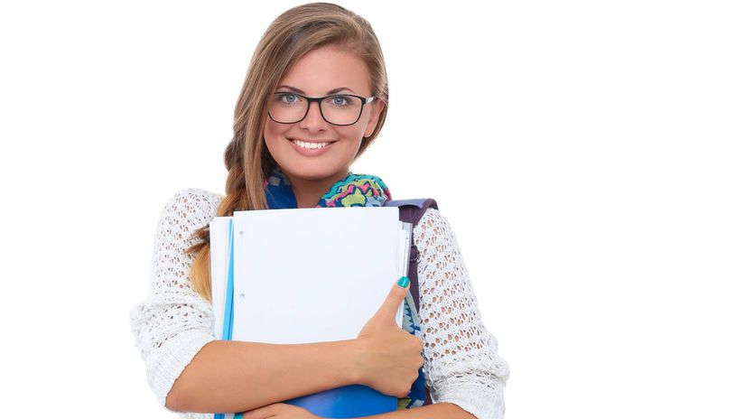 študentka, škola, učenie, maturita
