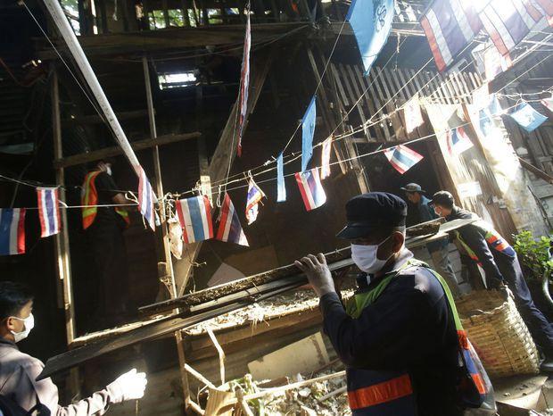 Búracie práce pri pevnosti Pom Mahakan v Bangkoku.