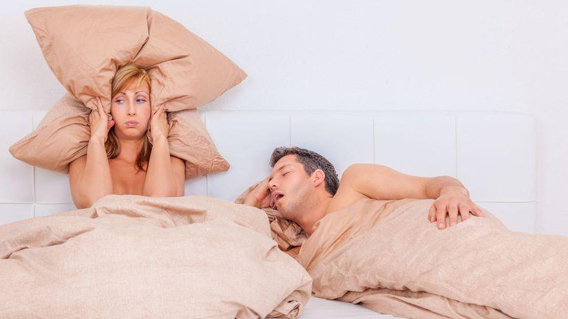 spálňa, spánok, nespavosť, chrápanie