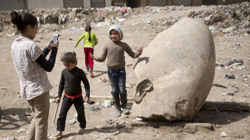 archeológ, Káhira, Ramzes, Egypt, deti