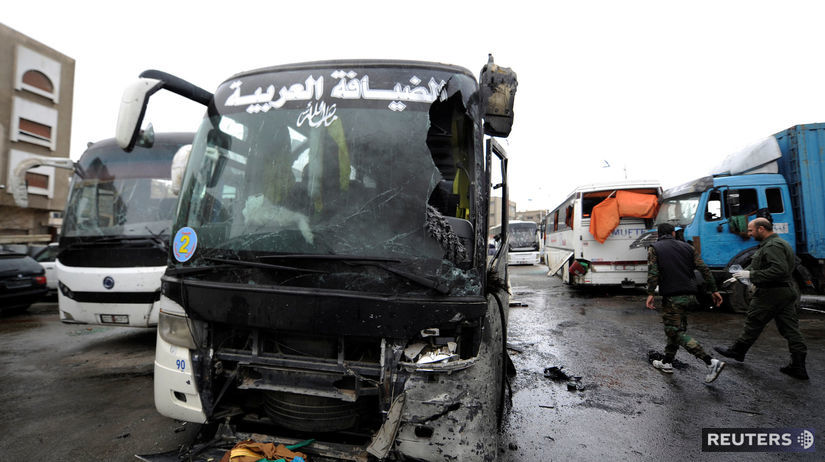 Damask, útok, bomba, autobus