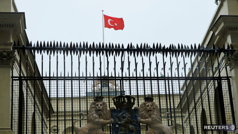 vlajka, turecko, istanbul, holandsko, konzulát,...