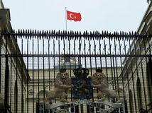 vlajka, turecko, istanbul, holandsko, konzulát, ambasáda