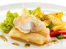 ryba, zemiaky, obed