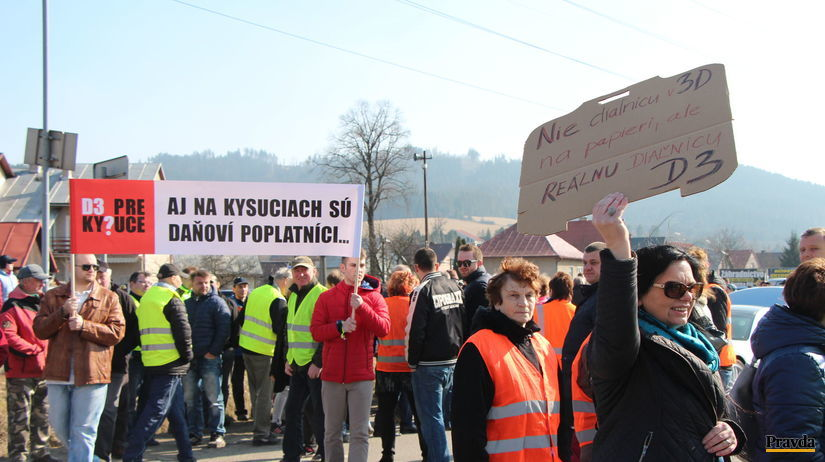 Kysuce, protest, demonštrácia, D3,