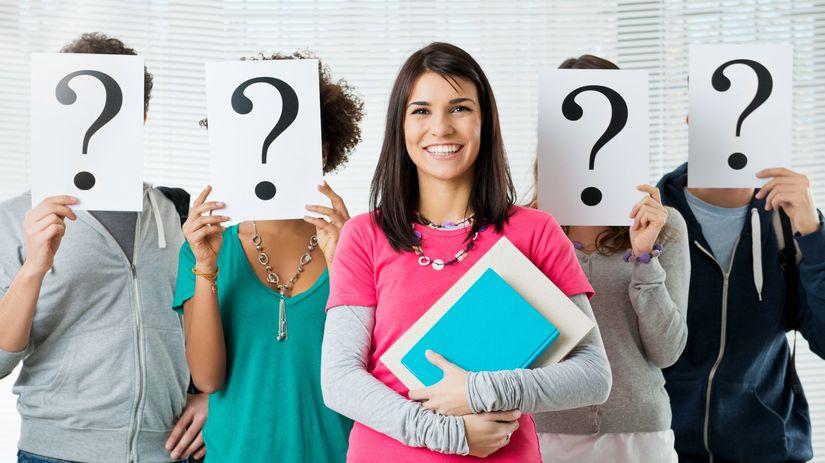 študenti, otázniky