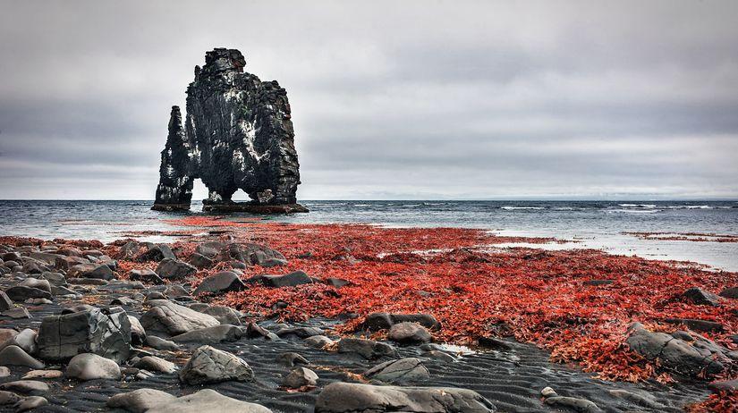Riasy, ostrov, pláž, pobrežie, skaly