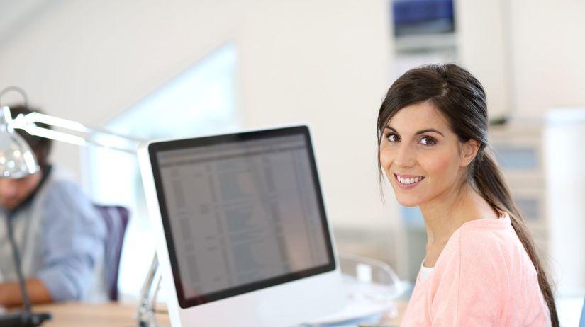 karieéra, práca, žena, počítač