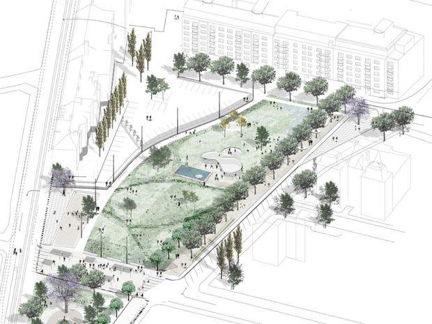 Budúci Landererov park.