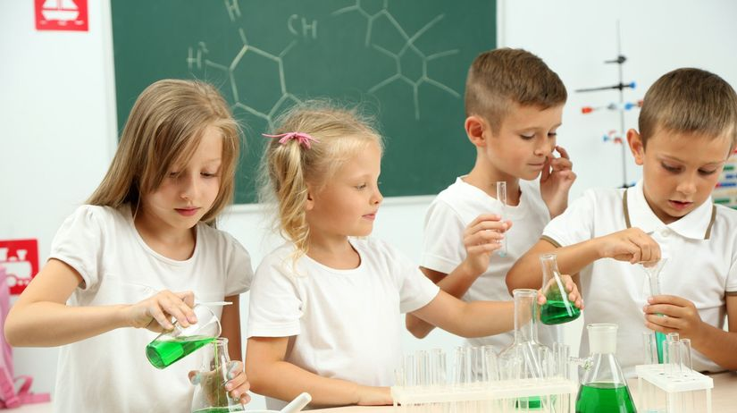 chémia, škola, študenti, vyučovanie,...