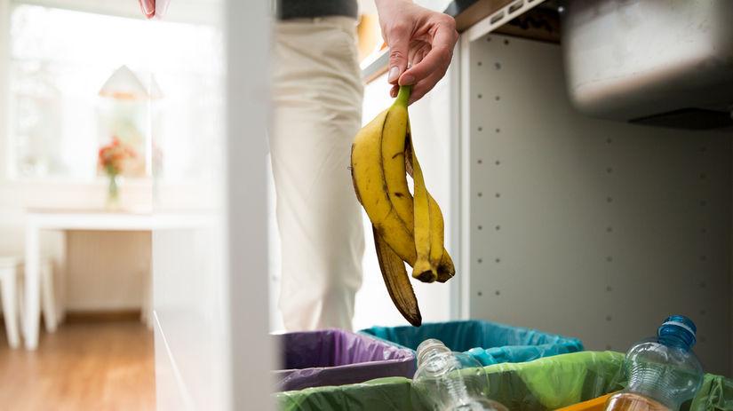 odpad, smeti, banánová šupka, čistota, smetný kôš