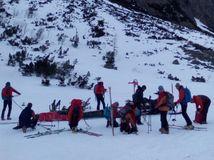 záchranári, tatry, hory, sneh