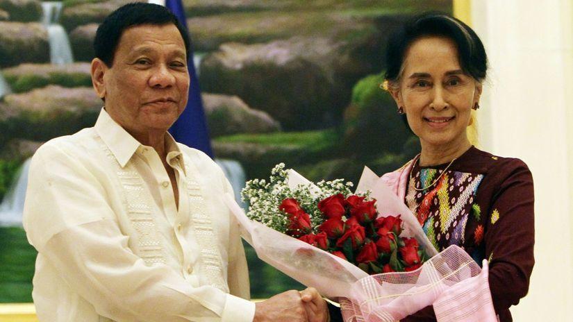 Aun Schan Su Ťij, Barma, Rodrigo Duterte, Filipíny