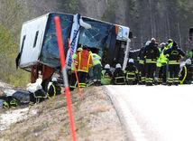 nehoda, autobus, Švédsko, sveg