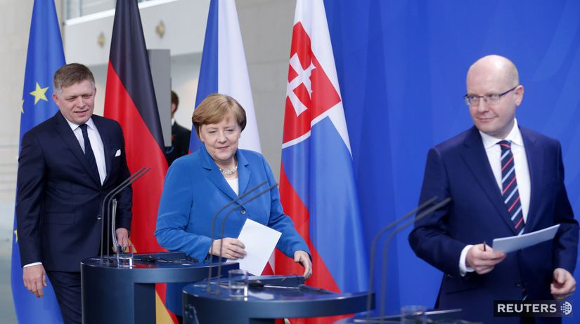 Fico, Merkelová, Sobotka