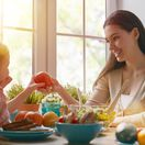 obed, rodina, potraviny, raňajky, ovocie