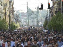 protest, demonštrácia, maďarsko, soros, sorosova univerzita,