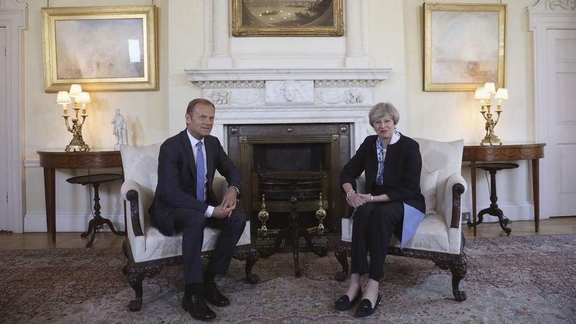 brexit, tusk, mayová