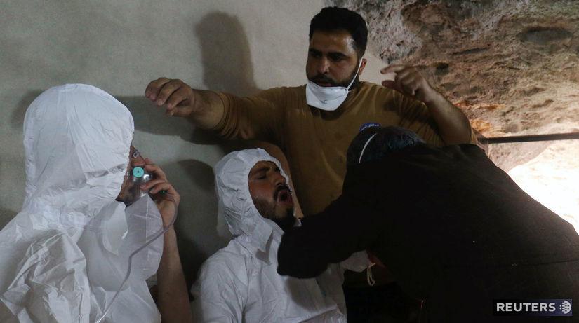 Idlib, útok, chemicky utok, syria