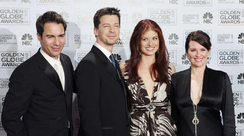 Eric McCormack, Sean Hayes, Debra Messing a...