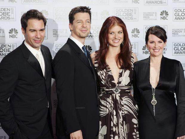 Eric McCormack, Sean Hayes, Debra Messing a Megan Mullally.