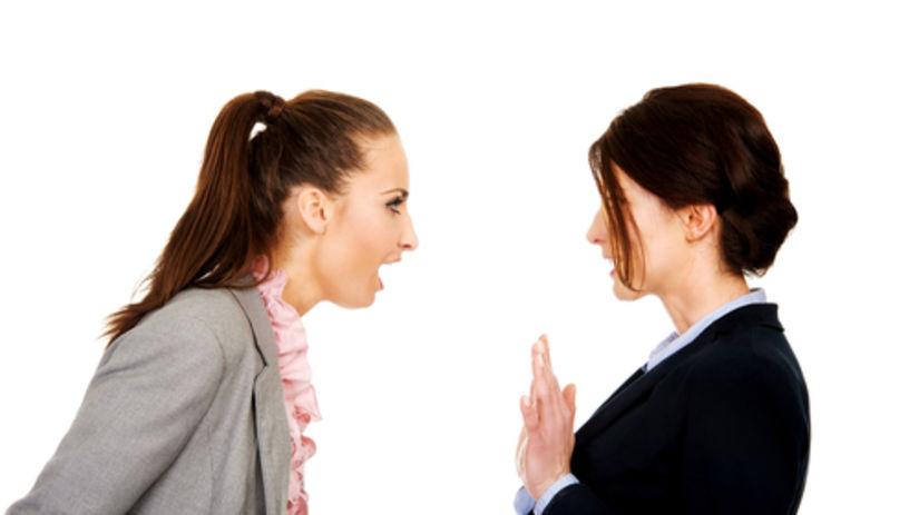 kolegyňa, hádka, kancelária