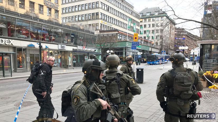 Štokholm, Švédsko, kamión