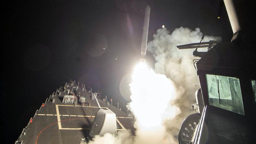 usa, tomahawk, sýria, loď, odpalenie rakety,...