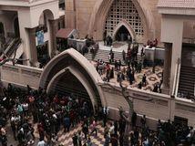 Egypt, kostol, výbuch v kostole,