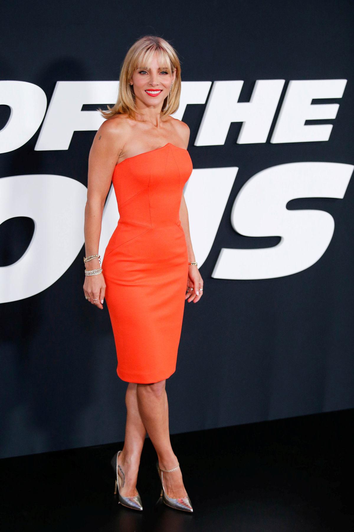 Elsa Pataky na premiére filmu Rýchlo a zbesilo 8 v New Yorku.