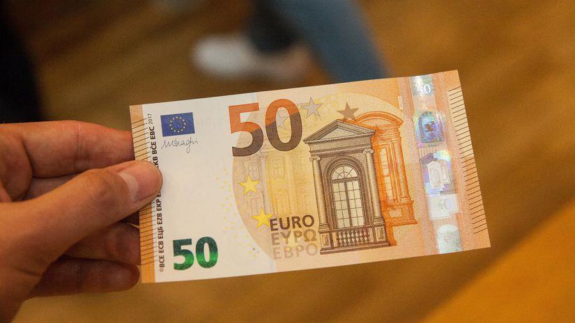 bankovka, euro, 50,