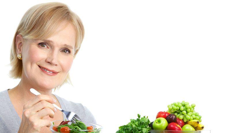 žena, ovocie, zelenina, zdravie
