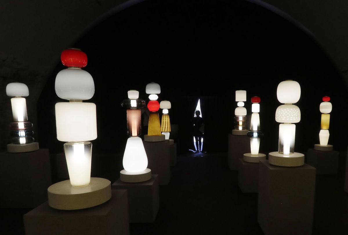 lampy, noc, tma, umenie, expozícia, svetlo