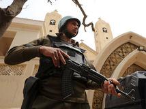 policajt, egypt, kopti, kostol