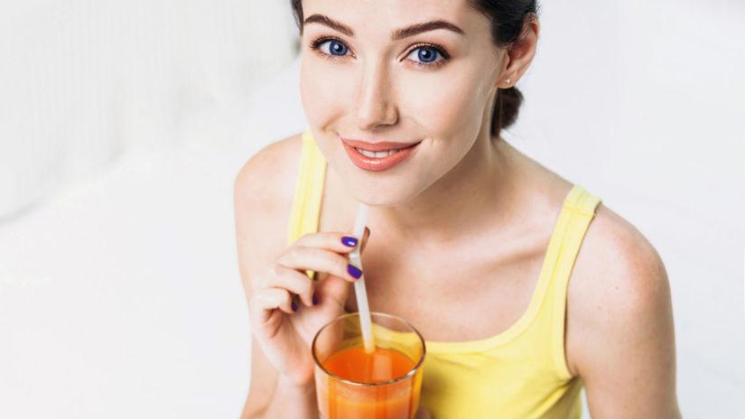 šťava - džús, pitie, žena, nápoj, smoothie