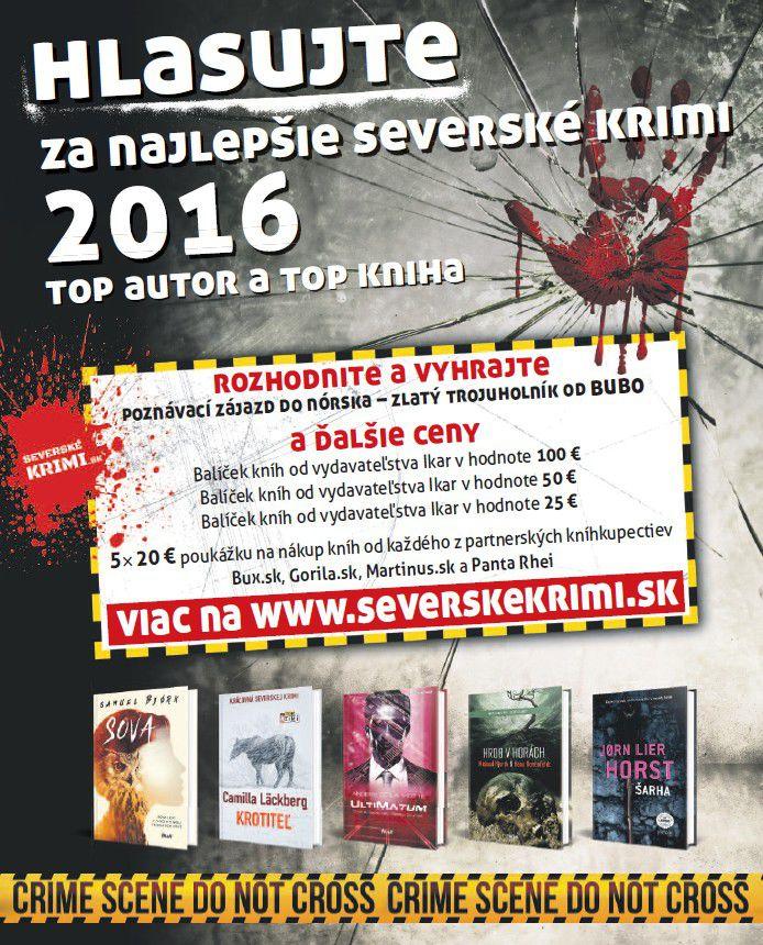 c5f125757 Anketa beží na www.severskekrimi.sk, a jej partnermi sú štyri najväčšie  internetové kníhkupectvá Martinus, Gorila, ...